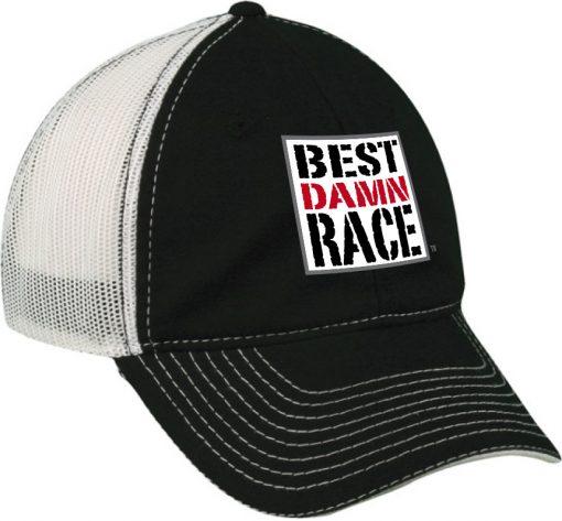 BDR Black-White Mesh Cap