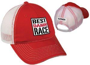 BDR RACER Red-White Mesh Cap